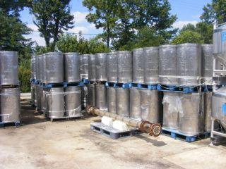 55 Gallon Stainless Steel Drum Tank Food Wine Beer Soup Sanitary Manyinstock