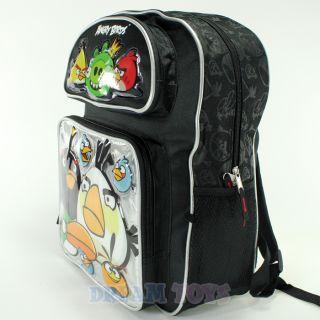"Rovio Angry Birds and King Pig 16"" Large Backpack Book Bag Boys Girls Kids"