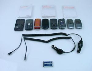 8 Verizon Phone Lot Cell Smart Phone Motorola Flip Blackberry LG Charger Bundle