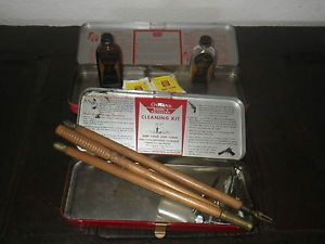Vintage  Outers gun cleaning kits 22 45 wood shotgun cleaning rods