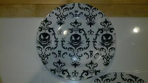 Disney Jack Skellington Nightmare Before Christmas Damask Print 4pc Plate Set