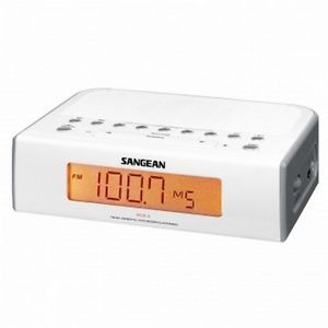 Sangean RCR 5 Digital Alarm Clock Radio Am FM Tuning White