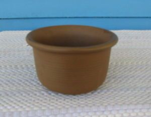 McCoy Pottery Clay Pottery Round Brown Planter