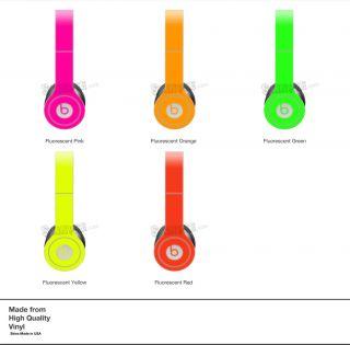 Orange Neon Skin Kit for Monster Beats by Dr Dre Solo Headphones