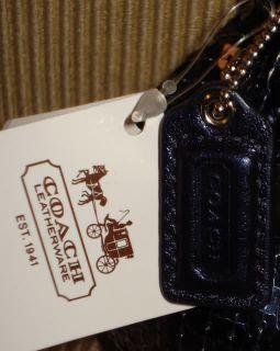 New Coach 46727 Occasion Sequin Black Large Wristlet Evening Bag Kisslock Clutch
