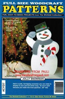 Jolly Snowman Christmas Yard Art Pattern Winfield