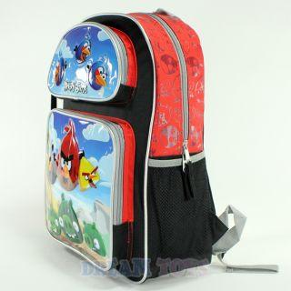 "Rovio Angry Birds Scene Red 16"" Large Backpack Book Bag School Boys Girls Kids"