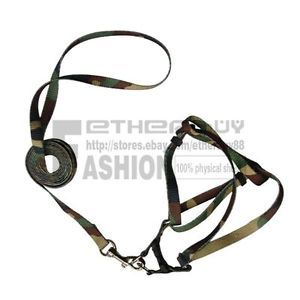 Detachable Pet Puppy Small Dog Lead Leash Camo Pulling Harness Nylon Rope Belt