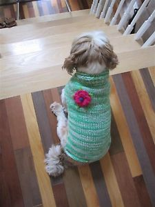 Hand Knit Small Breed Dog Sweater