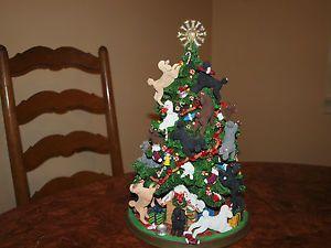 Danbury Mint Poodle Christmas Tree