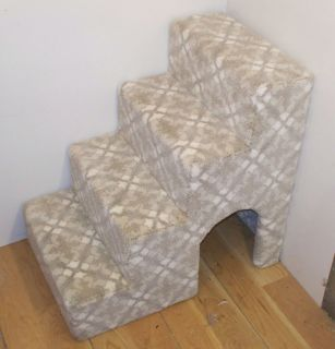 """24"""" Tall Wooden Dog Steps for Small Dogs Pet Stairs Pet Steps USA Made"""