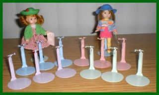 "12 Rainbow Kaiser Doll Stands 5"" McDonald's Madame Alexander Dolls"