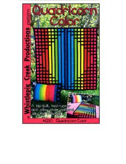 Quadricorn Color Pattern Jelly Roll Friendly Lap Quilt Bed Runner Sham
