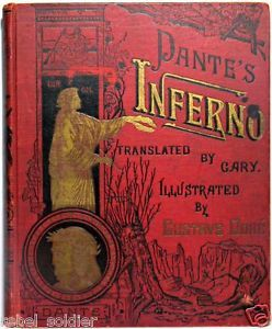 Dante Inferno Divine Comedy Gustave Dore Antique Hell Devil Poetry Book Heaven