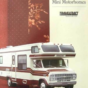 Vtg Travelcraft Mini Motorhomes Floor Plans Ad Brochure camper RV Travel Trailer