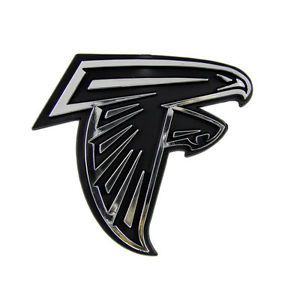 Atlanta Falcons NFL Chrome 3D Auto Car Emblem Decal Sticker Football Team Logo