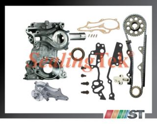 Toyota 22RE HD Timing Cover Chain Kit Japan Water Pump 22R Engine Steel Guide