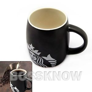 Starbuck Personalized Travel Coffee Mug Ceramic Tea Cup 14floz Black
