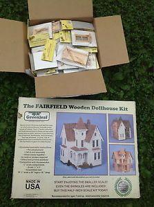 Greenleaf Fairfield Wooden Dollhouse Kit Complete 1 2 Scale Kit