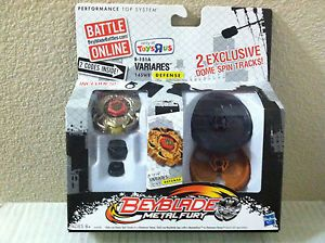 Beyblade Metal Fury Variares B 151A Toys R US Exclusive w 2 Dome Spin Tracks