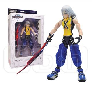 "7"" Riku Figure Kingdom Hearts Disney Play Arts No 2 Square Enix Kai Soul Eater"
