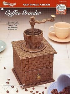 Coffee Grinder Filter Storage Box Plastic Canvas Pattern
