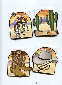 12 Cowboy Western Notepads Kids Boys Country Birthday Party Favors Treats Gifts