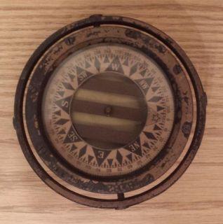 WW2 Era Old SHIP's Model Brass Perko Star Binnacle Compass