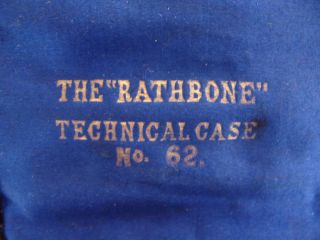 Vintage Antique Rathbone Technical Drawing Compass Set No 62 in Original Case