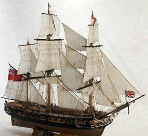 Euro Model Ajax EU99005 Wood SHIP Model Kit Complete in Damaged Box BB TM