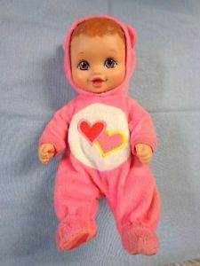 Care Bears Lots A Love Water Babies Doll Pink Hearts 1990 Lauer Toys