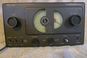 Vintage Ham Radio Hallicrafters Model s 38 Communications Receiver 1946 Works