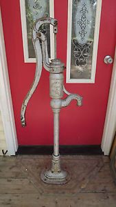 Antique Cast Iron Hayes Pump Planter Co Galva IL Farm Water Well Pump