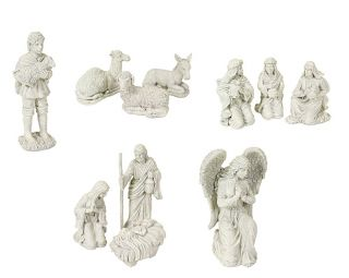 11 Piece Winter Solace Large Religious Christmas Nativity Statue Set