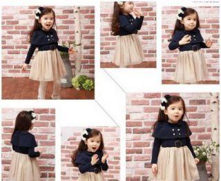 Girls Kids Lovely Dresses Skirt Clothing 1 Piece Costume 1 7Y Tutu Free Shipping