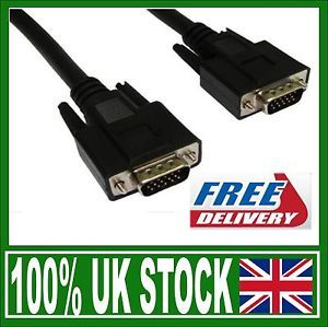 1M VGA Cable Male to Male Connection Connect Laptop PC to TV Plasma LCD LED