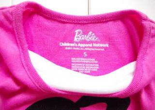 Girls Kids 4 7Y Barbie Princess Costume Top T Shirt Dress Up Tutu Skirt Outfit
