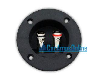 ★ New Scosche Subwoofer Speaker Round Box Terminal Spring Cup Connector Sub ★