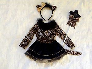Toddler Girls Kitty Cat Leopard Cheetah Halloween Costume Dress 18 24 Months