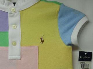 New Girls Ralph Lauren Patch Patchwork Dress Size 4 Multi Color Block