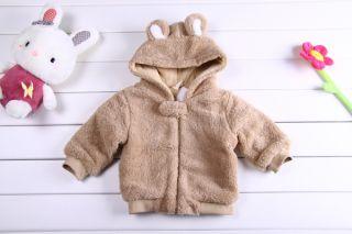 Baby Boy Girl Warm Bear Costume Jacket Snowsuits Coat Outerwear 6 12 18 24M