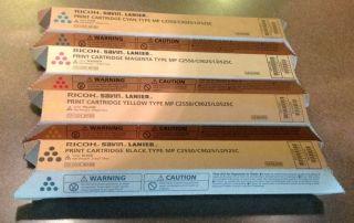 Ricoh Print Cartridge MP C2550 C9025 LD525C Full Set Black Yellow Cyan Magenta
