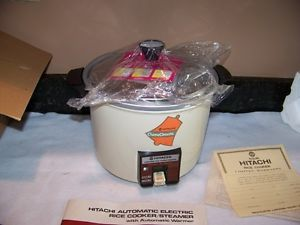 Vintage Hitachi Chime O Matic Automatic Electric Rice Cooker Steamer w Box