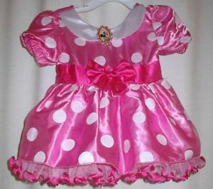 Minnie Mouse Disney Toddler Halloween Costume Dress Up Pink 18 Mos