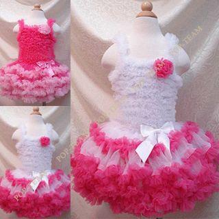Baby Girl Kid Pettiskirt Tutu Dress Skirt Outfit Costume Clothing 1 12y TYA2