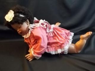 "1993 Signed Fayzah Spanos African American Baby Doll ""Caramel Cream"" 2500 AA"