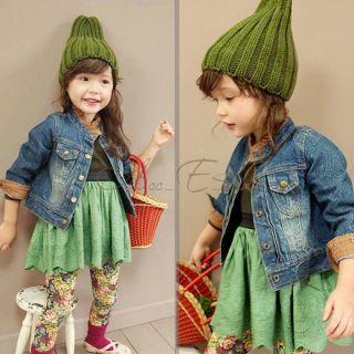 Girls Kids Long Sleeve Top Dress Hollow Tutu Party Costume Skirt Clothing Sz 2 6