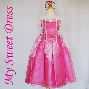 Toddler Sleeping Beauty Princess Costume Dress Size 1 Pageant Birthday Party