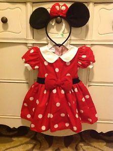 Disney Minnie Mouse Costume Halloween Dress Baby Girls 3 6 Months Worn Once