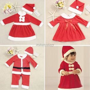 Baby Boy Girl Christms Xmas Santas Party Suit Costume Dress Snowman Outfit ITS7